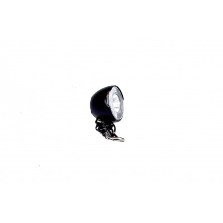 Lampa na dynamo czarna LED 1W