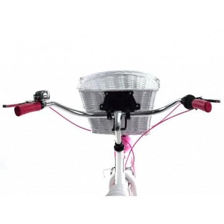 DALLAS BIKE Cruiser 26″ 6spd – biały z różowymi dodatkami