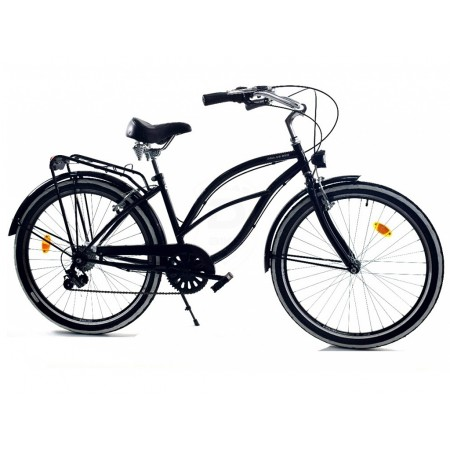 DALLAS BIKE Cruiser 26″ 6spd – czarny