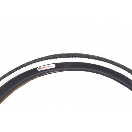 Opona MCT 24*1,75 czarna z białym bokiem