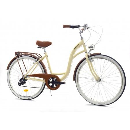 Miejski rower damski DALLAS 28 6 biegów Kremowy