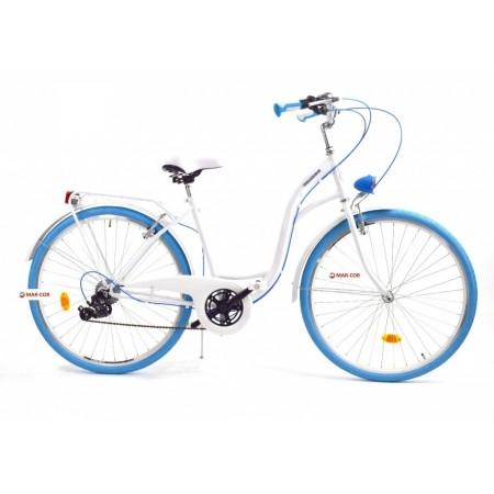 Miejski rower damski DALLAS 28 6 biegów damka biało-niebieski