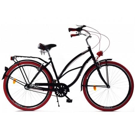 DALLAS BIKE Cruiser 26″ 3spd – czarny z czerwonymi dodatkami
