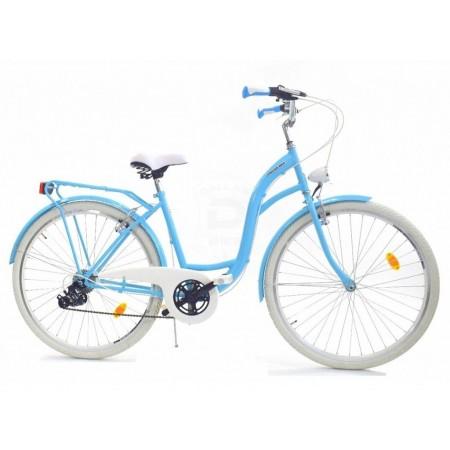 DALLAS BIKE City 26″ 6spd – niebieski z białymi dodatkami