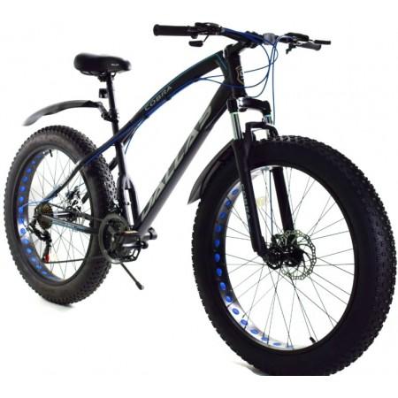 Rower DALLAS FATBIKE 26″ COBRA czarny z niebieskim