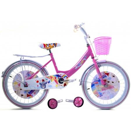 """Rowerek WIKI 20"""" dla dziewczynki 2021 różowy"""