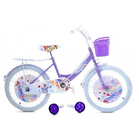 """Rowerek WIKI 20"""" dla dziewczynki 2021 fioletowy"""